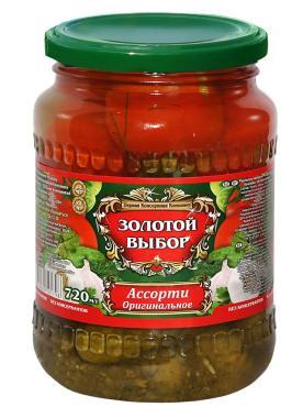 Овощное ассорти Золотой выбор Оригинальное томат огурец