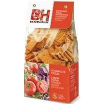 Хлебцы Baker House Итальянские с томатом и орегано, оливковым маслом и морской солью, Полиэтиленовый пакет 250 г, (7 шт. в упаковке) 250 гр