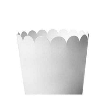 Упаковка для попкорна 1500 мл, белая
