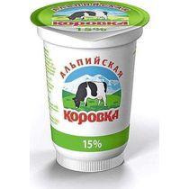 Сметанный продукт Альпийская Коровка 15 %