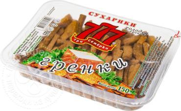 Сухарики Три семёрки гренки ржано-пшеничные со вкусом холодца и хрена