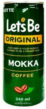Кофейный напиток Lotte Let's Be Mokka негазированный, 240мл