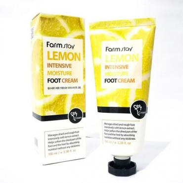 Крем для ног FarmStay Lemon Intensive Moisture Foot Cream