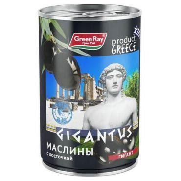 Маслины Green Ray Gigantus греческие c косточкой