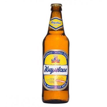 Пиво светлое 4% Жигулевское Рязанское 500 мл., Стекло