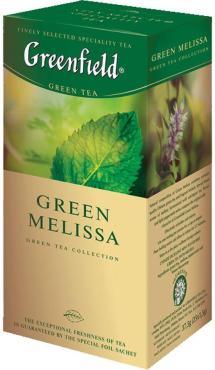 Чай Greenfield Green Melissa зеленый 25 пак.