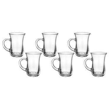 Набор стаканов для чая Pasabahce Чай и Кофе 145 мл. с ручкой 6 шт.