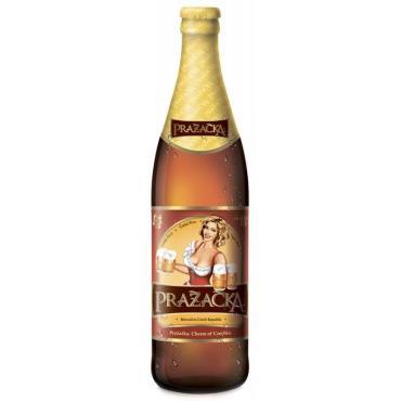 Пиво светлое Пражечка импортное 4%, стекло, 500 мл.