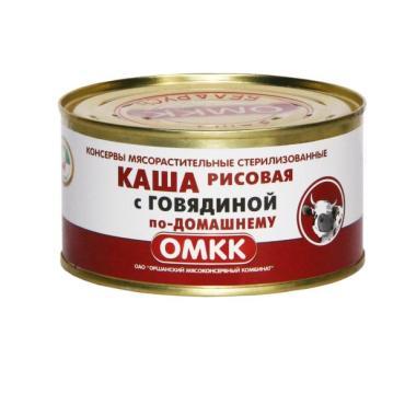 Каша Оршанский МКК Рисовая с говядиной по-домашнему