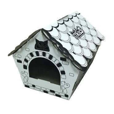 Дом для кошек Ms.Kiss из крафтового картона