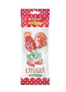 Карамель леденцовая с витамином С клубника Актифрут АСНА, 17 гр.
