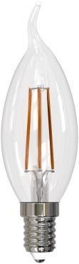 Лампа светодиодная. Форма свеча, прозрачная. Серия Sky. Белый свет 4000 К. LED-C35-13W/4000K/E14/CL PLS02WH Uniel, 29 гр., картонная коробка