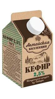Кефир 2,5% Алтайская коллекция, 450 мл., тетра-пак