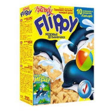 Готовый завтрак Krosby Медовые дельфинчики, 287 гр., картонная коробка