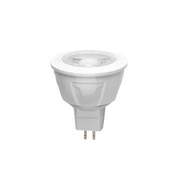 Лампа светодиодная. Форма JCDR, матовый рассеиватель. Материал корпуса термопластик. Цвет свечения теплый белый. Серия Simple. LED-JCDR-5W/WW/GU5.3/S, Volpe, 81 гр., картонная коробка