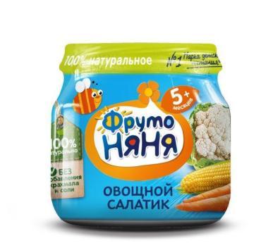 Пюре ФрутоНяня Овощной салатик