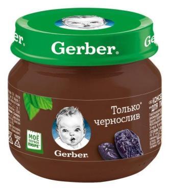 Пюре Gerber Чернослив с 4 месяцев