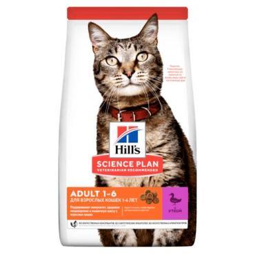 Сухой корм для взрослых кошек, с уткой Hill's Science Plan, 1,5 кг., дой-пак