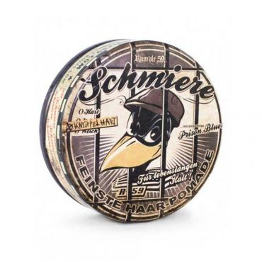 Помада сверхсильной фиксации со слабым блеском Schmiere Prison Blues, 140 гр., жестяная банка