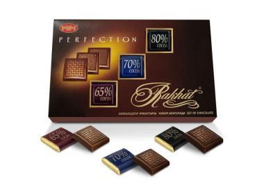 Шоколад Рахат ассорти 65%,70%, 80%