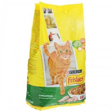Корм сухой для кошек с кроликом и полезными овощами Friskies 2 кг. Дой-пак