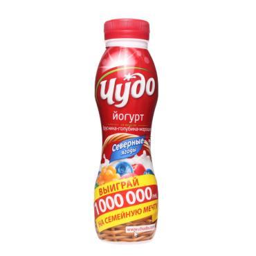 Йогурт питьевой Чудо Северные ягоды 2,4%