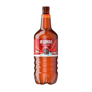 Пиво светлое Ледокол Крепкое фильтрованное пастеризованное 8% 1,5 л.