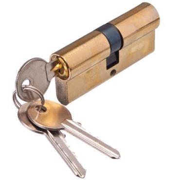 Сердцевина замка 70мм 3 ключа (золото)