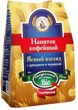 Напиток кофейный Русский цикорий С цикорием и черникой Ясный взгляд