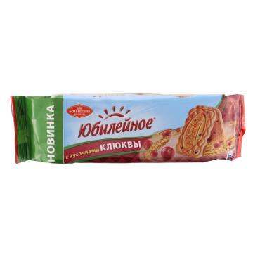 Печенье с кусочками клюквы, Юбилейное, 112 гр., флоу-пак