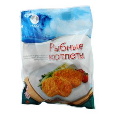 Котлеты рыбные POLAR п/ф замороженные
