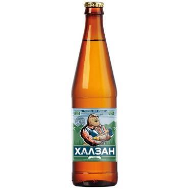 Пиво Халзан светлое 4,5 %  0,5 л.
