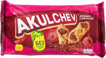 Печенье Акульчев сдобное с малиной