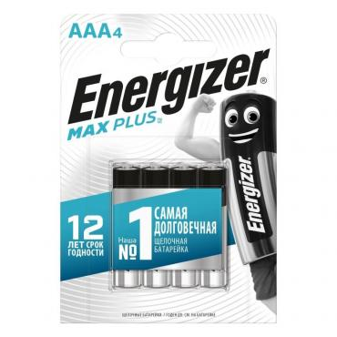 Батарейка Energizer Max Plus AAA E92 Алкалин 1,5V 4шт