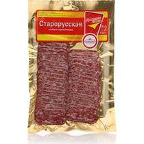 Колбаса Царицыно Сервелат Старорусская сырокопченая нарезка 150 г