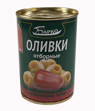 Оливки Барко фаршировнные перцем чили