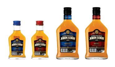 Виски купажированный 3 года, 40 %, John Corr Cиний килт, 100 мл., стекло