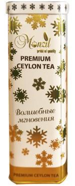 Чай листовой черный Monzil Волшебные мгновенья, 70 гр., жестяная банка