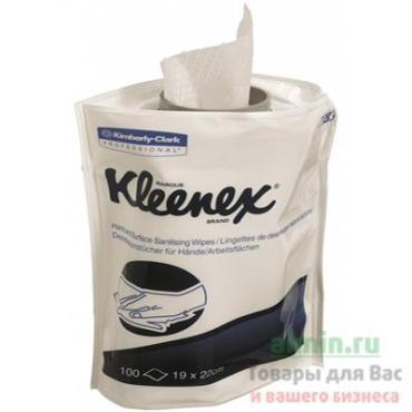 Салфетка влажная дезинфицирующая для диспенсера, сменный блок 100 штук в упаковке, Kleenex, дой-пак
