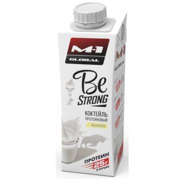 Коктейль молочный, протеиновый ваниль 0,1% , Be strong, 250 мл., Тетра-пак