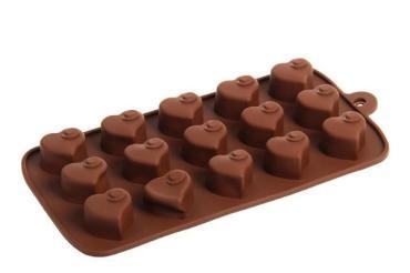 Форма для льда и шоколада Доляна Сердцеедка, 15 ячеек, цвет шоколадный