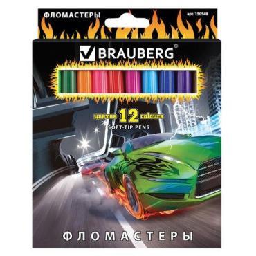 Фломастеры Brauberg InstaRacing 12 цв.