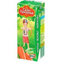 Нектар Сады Придонья яблоко-морковь с мякоть с 6 месяцев