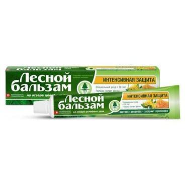 Зубная паста Лесной Бальзам Зверобой и прополис