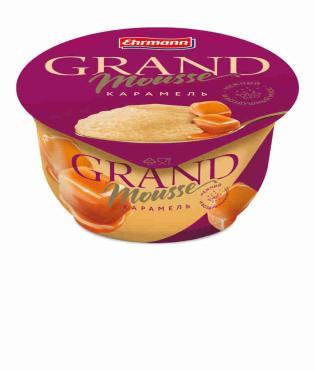 Мусс Ehrmann Grand Mousse молочный ультрапастеризованный с карамелью 4,9%