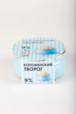 Творог 9%, Коломенский, 180гр., керамическая банка