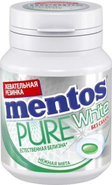 Жевательная резинка Mentos Pure White нежная мята