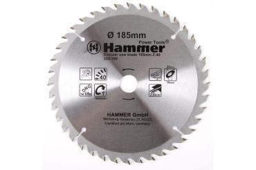 Диск пильный 185мм*40*20/16мм по дереву Hammer Flex 205-109 CSB WD, 30 гр., блистер