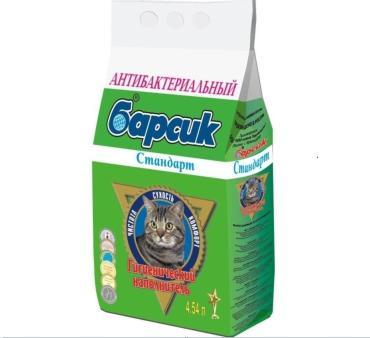Наполнитель минеральный для кошачьего туалета Барсик 4.54 л. Пластиковый пакет