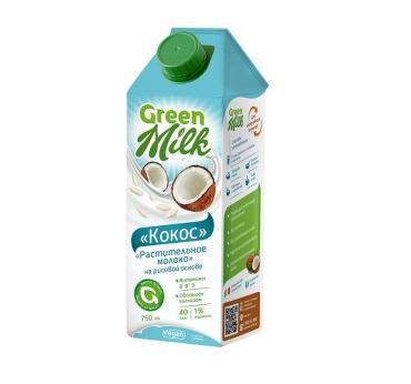 Напиток Green Milk Kokos Professional Кокос 1 л., тетра-пак
